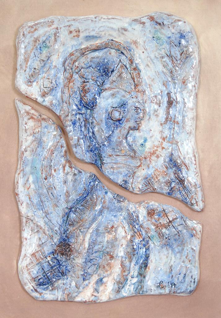 Leonnie van Eert, 'Libisani 2', ceramic relief, 32x48x3cm, 2017 - USD 250