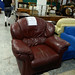 Wine leather recliner E70