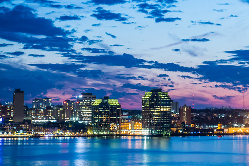 afewclouds canada canon70d halifax halifaxharbour nighttime novascotia shoreline sunset longexposure outdoors