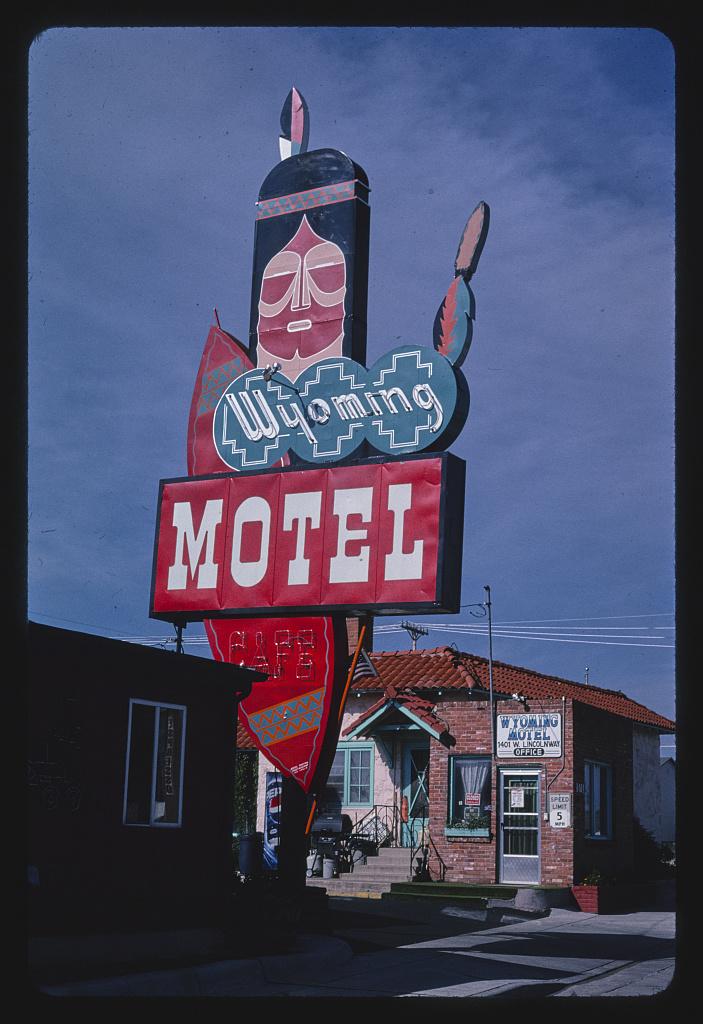 Wyoming Motel sign, Cheyenne, Wyoming (LOC)