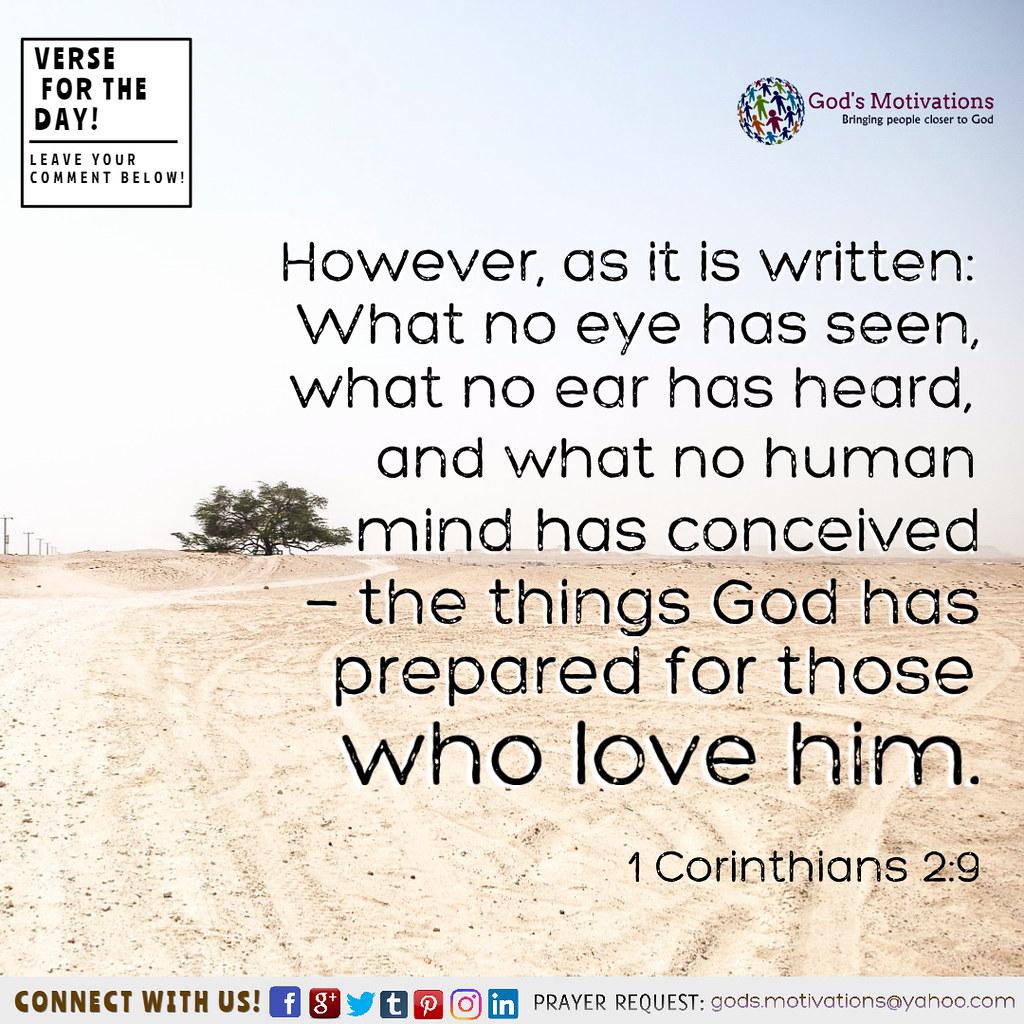 1 Corinthians 2:9 | Gods Motivations | Flickr