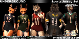 Sports Jersey Set Female Furry | by [:.UNDERGROUND & JUSTICE.:]