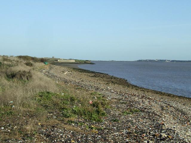 The Thames estuary at Tilbury