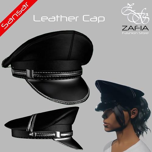 ZAFIA Leather Cap Female Sansar | by ZAFIA Fashion Store-METAPHOR