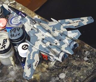 "1:100 Macross (Frontier) VF-25F 'Messiah', aircraft ""OK 204"" of the New U,N. Spacy - WiP | by dizzyfugu"