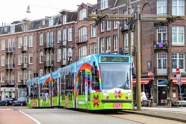 GVB Combino tram 2095, Lijn 12   Admiraal de Ruijterweg