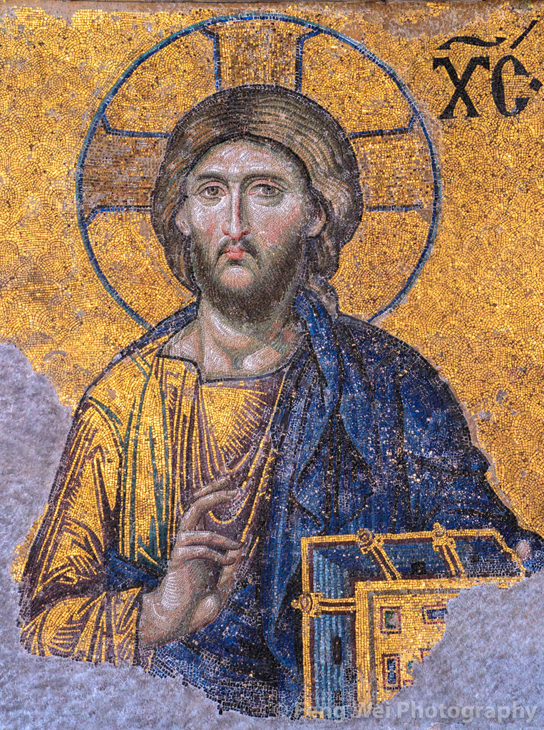Mosaic Of Jesus Christ Hagia Sophia Istanbul Turkey
