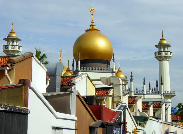 Sultan mosque in Kampong Glam district, Singapore