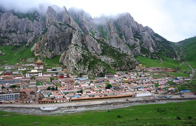 The White Rock Monkey Fortress, Tibet 2014