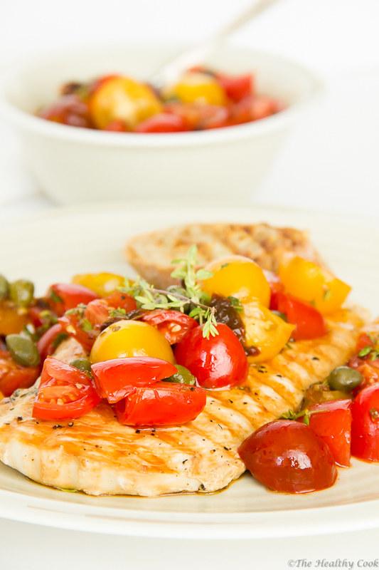 Chicken Fillets with Sun-Dried & Fresh Tomato Salsa – Φιλέτο Κοτόπουλου με Σάλτσα Λιαστής & Φρέσκιας Τομάτας