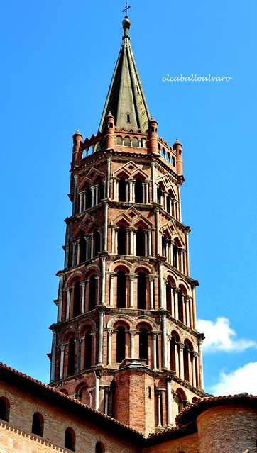 495 - Campanario - Basílica Saint Sernin - Toulouse (France).