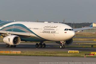 A4O-DA A330-243 WY 114 FRA-MCT   by Giancarlo Scolari