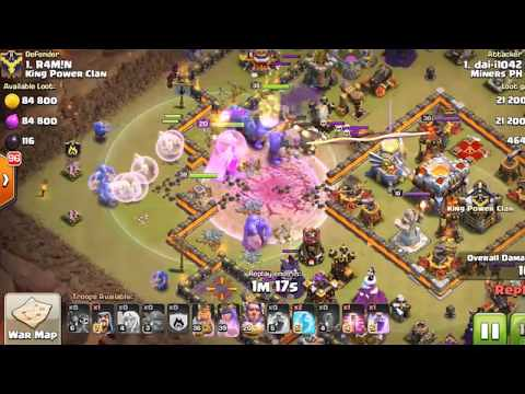 Clash Of Clan 3 Star Attacks On TH 11 with bowler on this
