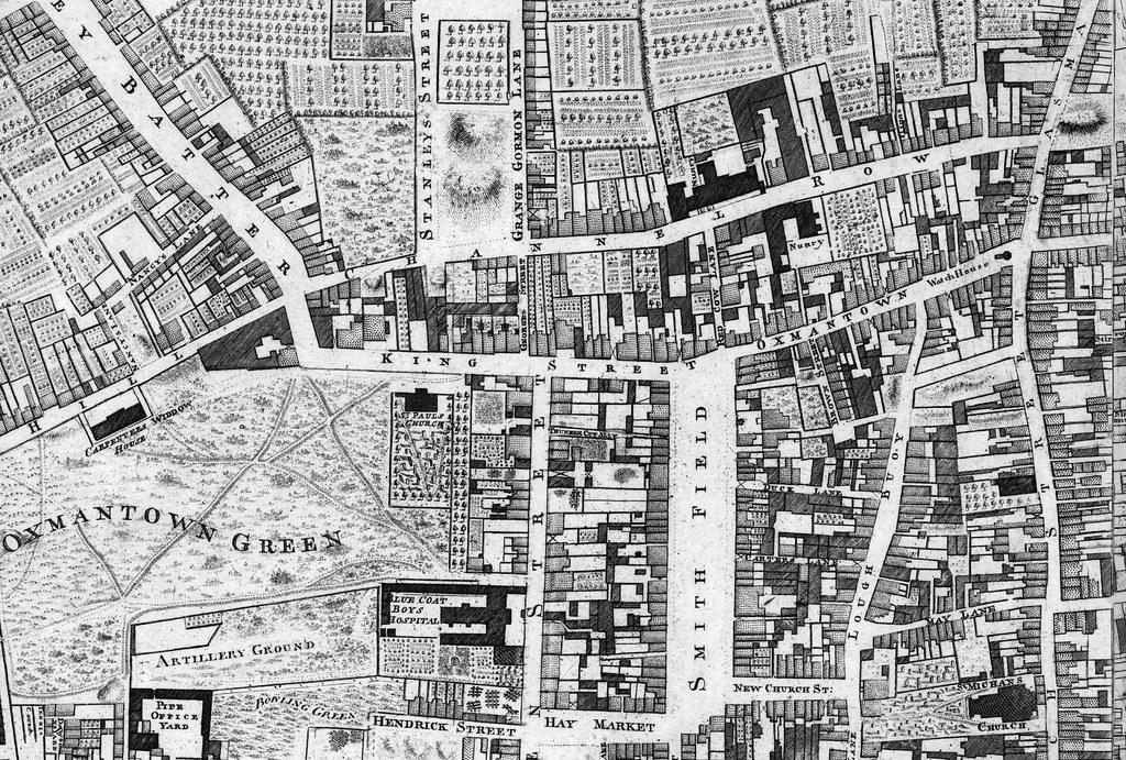 John Rocque\'s Map of Dublin, 1756 showing Oxmantown | Flickr