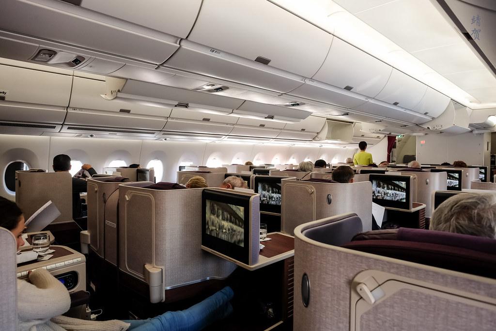 A350 Business Class cabin