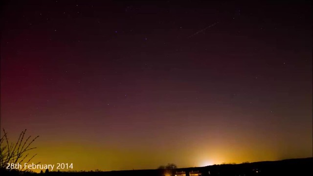 Aurora Timelapse Video Compilaiton from North Oxfordshire, UK