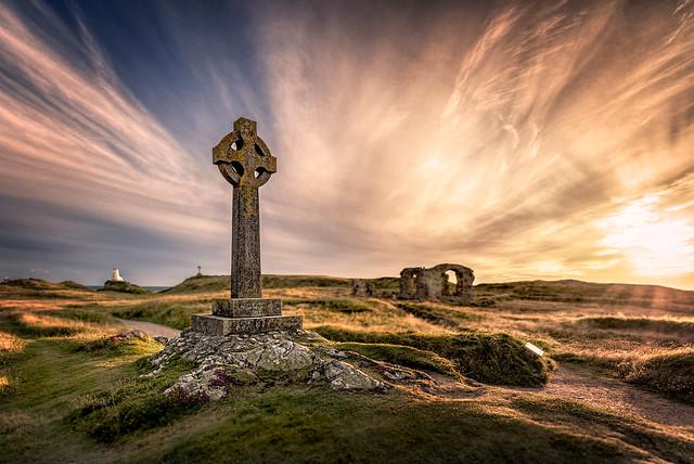 Celtic Cross on Llanddwyn Island - Anglesey