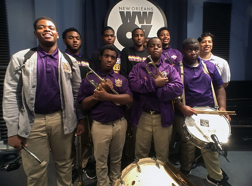 Edna Karr HS at WWOZ for School Groove Sept 25 2017.  Photo by Charlie Steiner