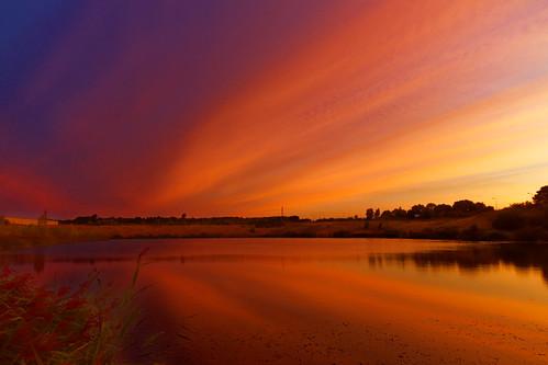 lagoon blue normanbyparksteelworks scunthorpe lake naturereserve sunrise cloudsstormssunsetssunrises dawn reflectionsofcolour reflections northlincolnshire normanby eos5dmkiv ef2470f28llusm canon england sunlight