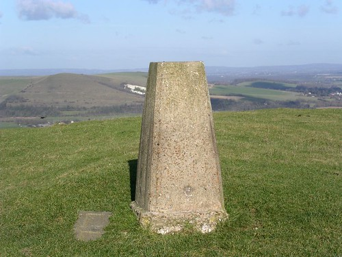 walk_25_pc_The_trig_point_on_the_downs_near_Southease | by Saturday Walkers Club