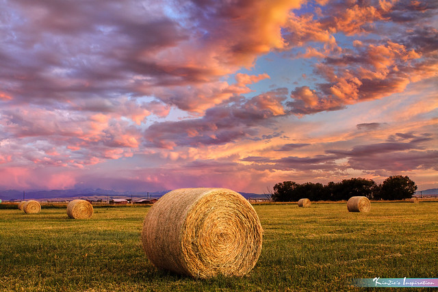 Hay Ranch in Sunset *A Beautiful Nature*