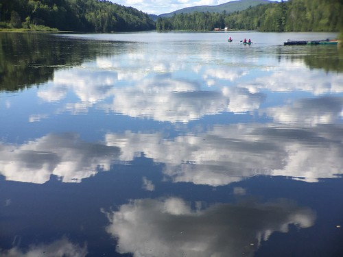 Reflection of clouds on the lake | by annathepiper