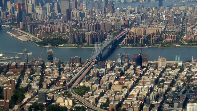Aerial Photo-Bridge into Manhattan, 8-26-2017