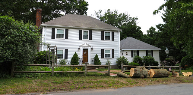 28 Parker Rd after tree removal; Wakefield, MA (2017)