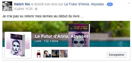 Avis du roman de Pierre Adonis, le Futur d'Anna, Abysses
