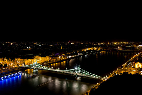 Night view from Gellert Hill, Budapest | by xnayc