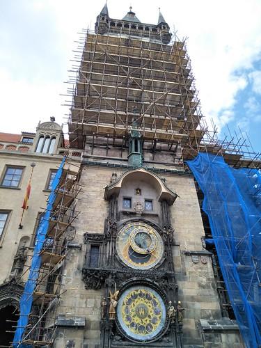 圖04首都布拉格舊城廣場上的天文鐘