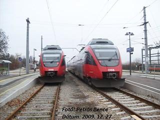 ÖBB 4124 034-2 + 4124 036-7 Eisenstadt, Austria, 27. 12. 2009.