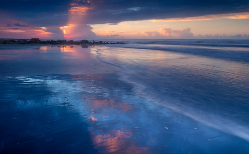 canon charleston follybeach southcarolina summer atmosphere beach beautiful blue clouds color colour cool dreamy landscape light mood nature reflection sand sea seascape serene shore sky sunrise twilight water waves