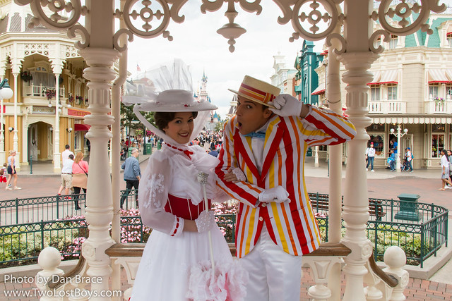 Mary Poppins and Bert