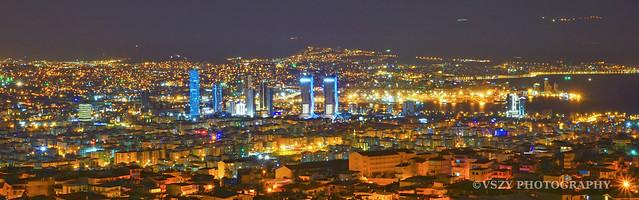 Izmir night panorama
