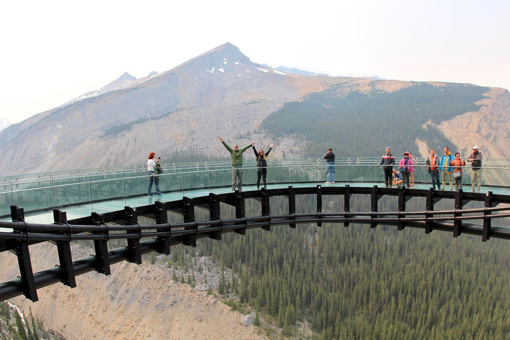 We survive on Glacier Skywalk