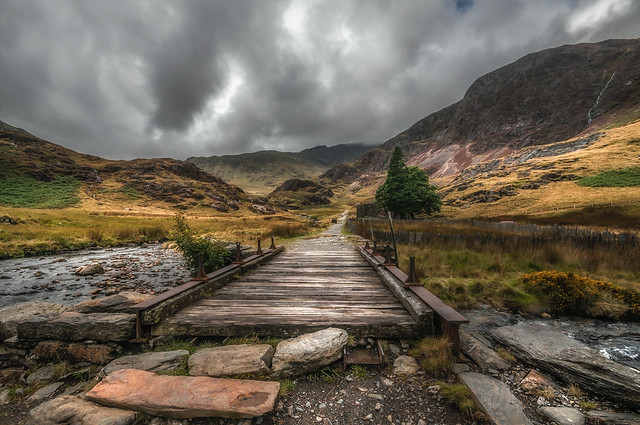 The leading path ......Watkin. Snowdonia