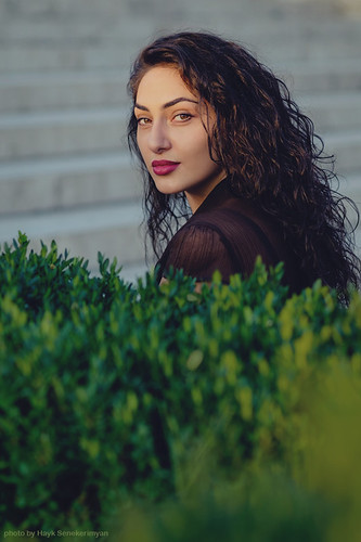 ani model girl beauty yerevan armenia evening sunset red lips long hair fujifilm eyes grass cascade hot day heat august summer