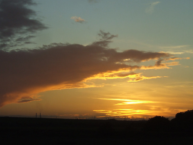 Sunset over Stanford-le-Hope