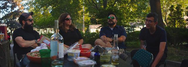 Graz, Stacy, Jason, Carlos; cookout, 22 Parker; Wakefield, Ma (2017)