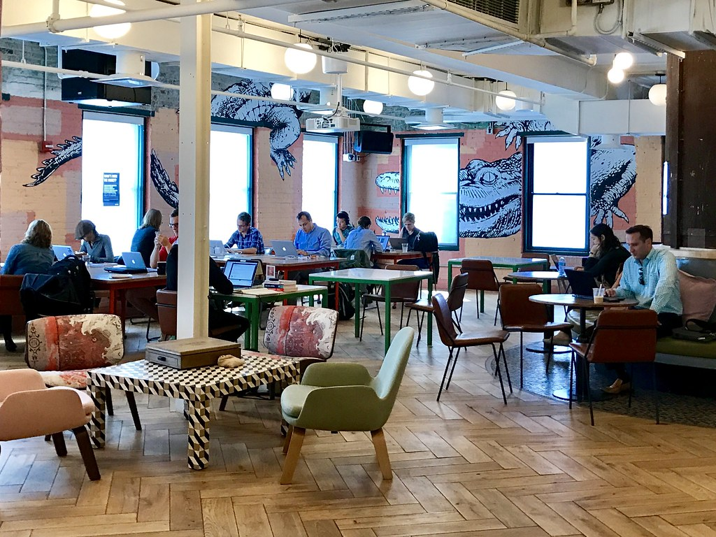WeWork Manhattan Laundry - interior