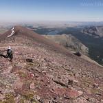Jake climbing Red Mountain