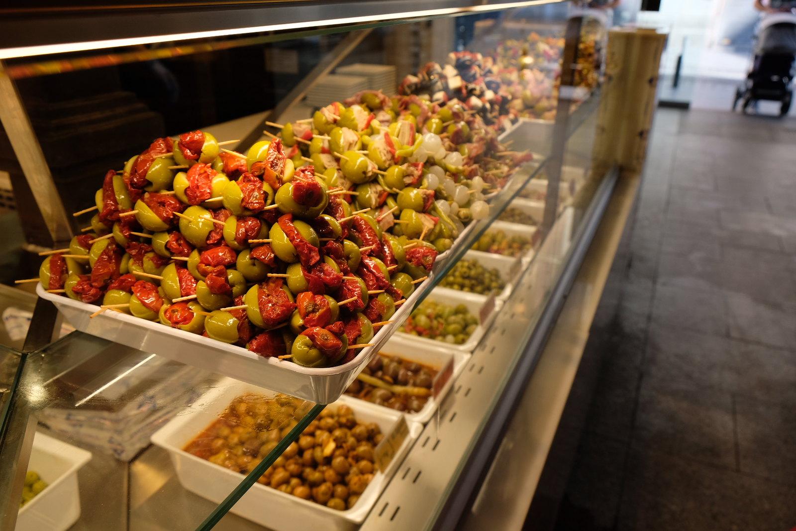 Spanish Olives at Mercado de San Miguel | Tapas in Madrid