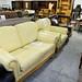 Cream leatherette ideal rental set 2+1 E250
