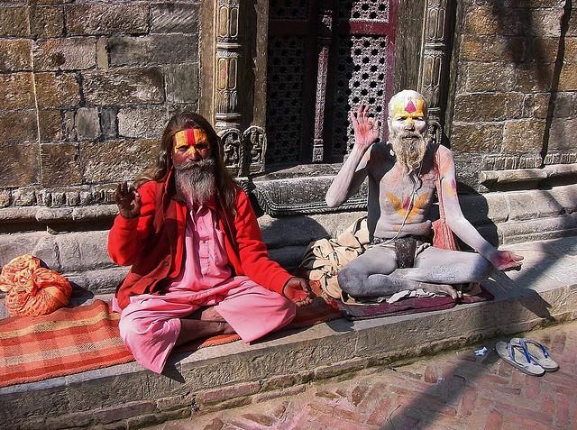NEPAL, Pashupatinath,Hindutempel und Verbrennungsstätte, Sadhu (serie),  16363/8672
