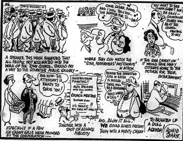 Cartoon brighten up CamCitCo meetings 12 Nov 1938