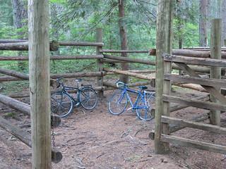 bike corrals at Box Canyon