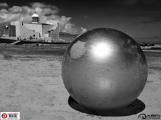 That Metal Sphere and Auditorium   by Alesfra