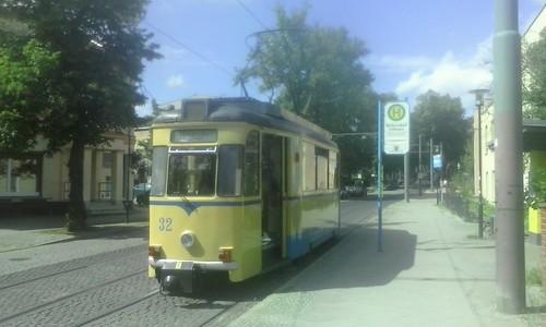 Triebwagen 32 an der Endhaltestelle Woltersdorf Schleuse | by Grüner Nomade