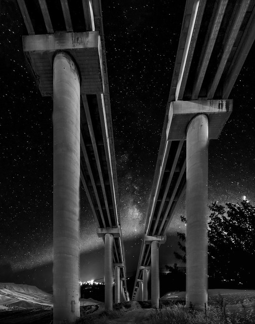 Milky Way under the Bridge
